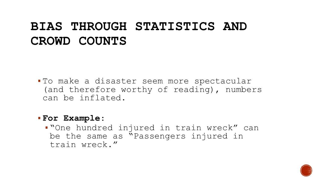 Bias through Statistics and Crowd Counts
