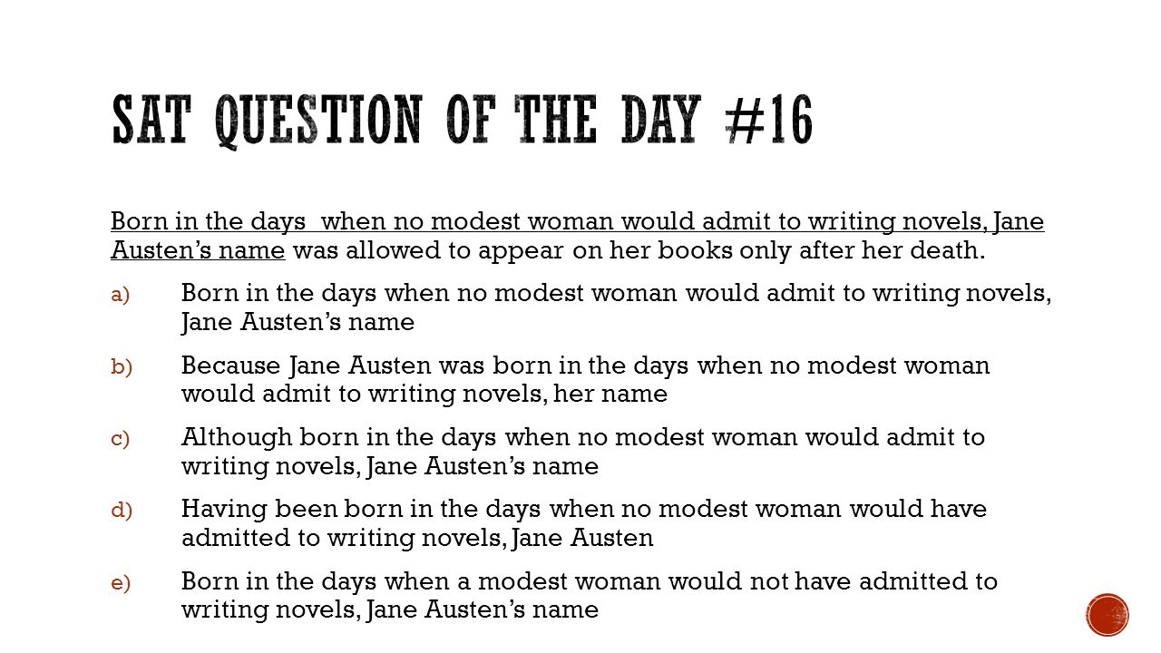 SAT Question of the Day #16