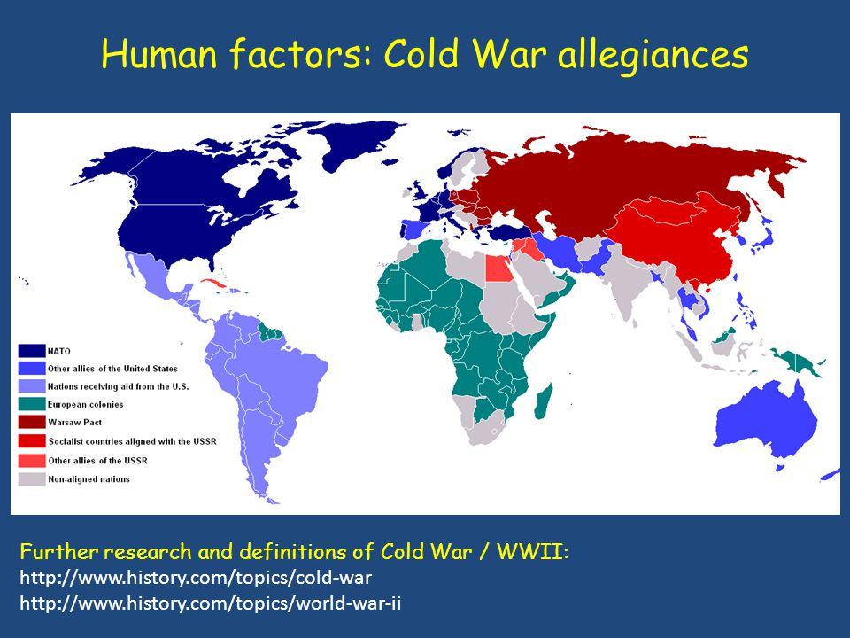 Human factors: Cold War allegiances