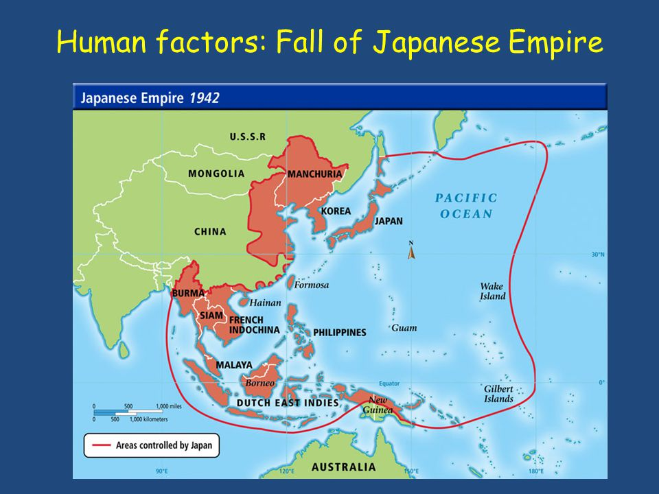 Human factors: Fall of Japanese Empire