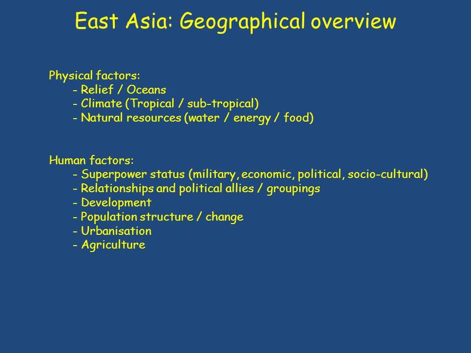 East Asia: Geographical overview