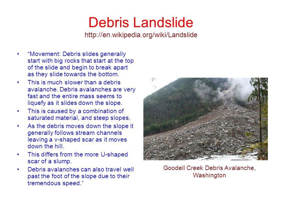 Debris Landslide http://en.wikipedia.org/wiki/Landslide