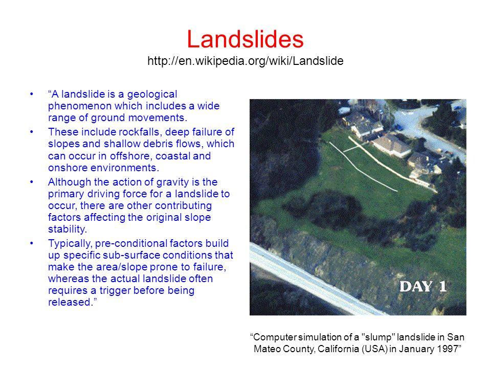 Landslides http://en.wikipedia.org/wiki/Landslide