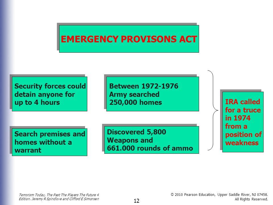 EMERGENCY PROVISONS ACT