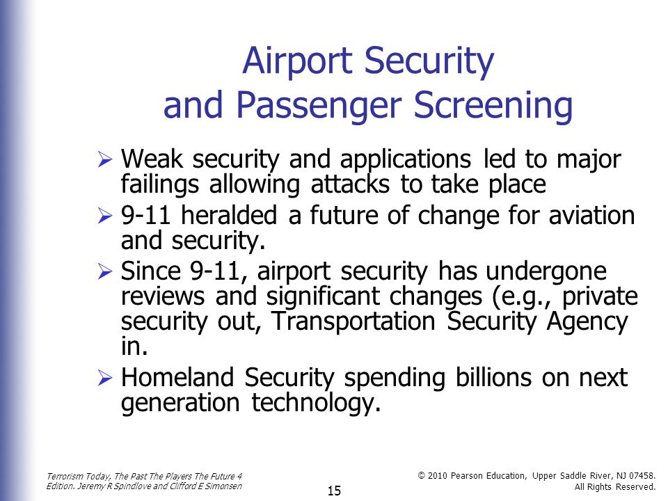 Airport Security and Passenger Screening