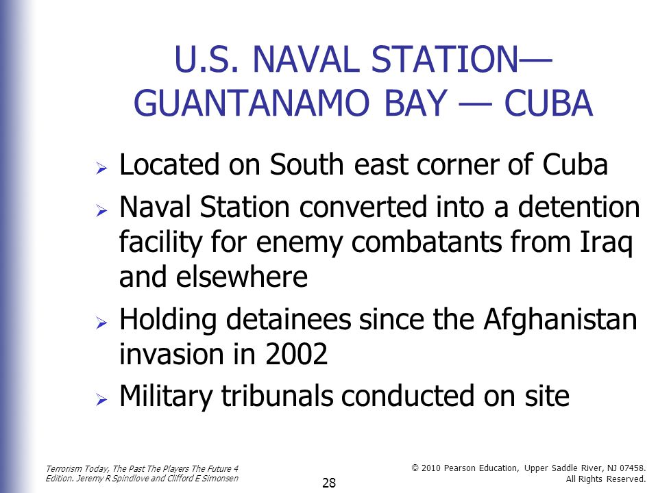 U.S. NAVAL STATION—GUANTANAMO BAY — CUBA