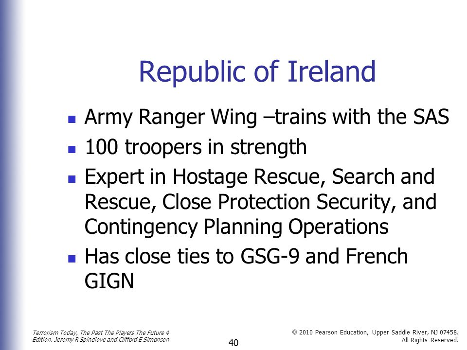 Republic of Ireland Army Ranger Wing –trains with the SAS