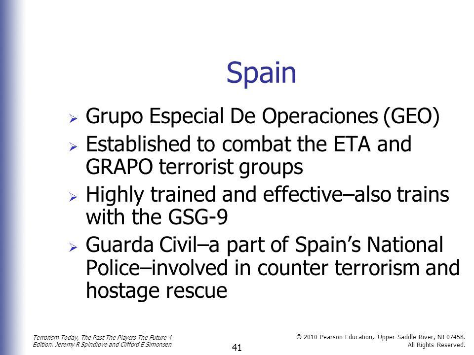 Spain Grupo Especial De Operaciones (GEO)