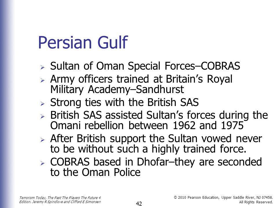 Persian Gulf Sultan of Oman Special Forces–COBRAS