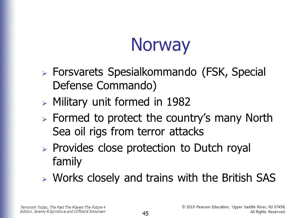 Norway Forsvarets Spesialkommando (FSK, Special Defense Commando)