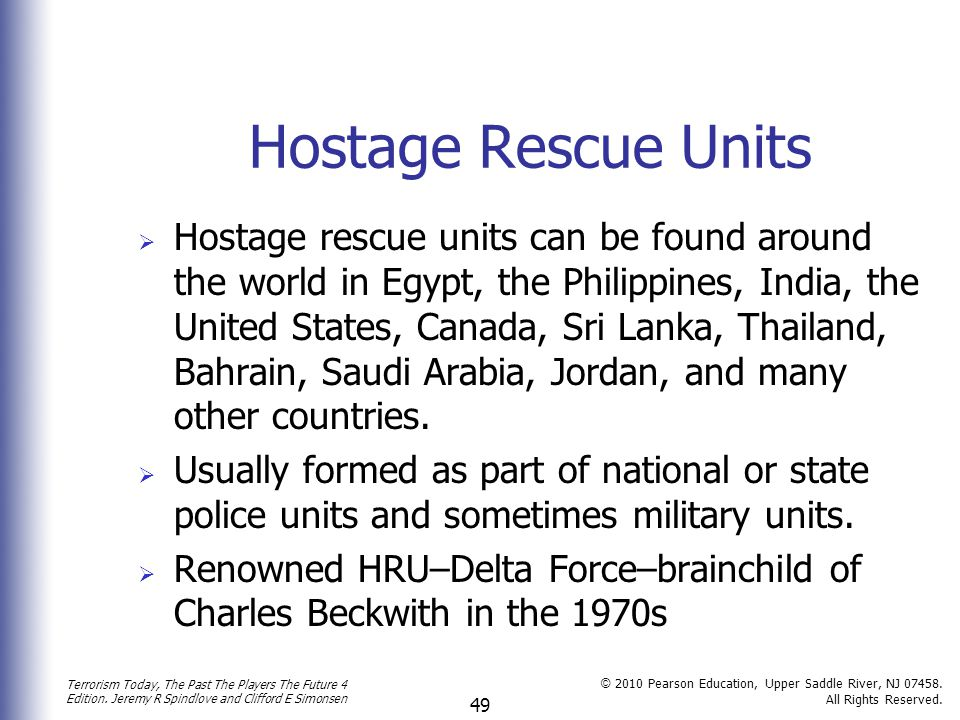Hostage Rescue Units