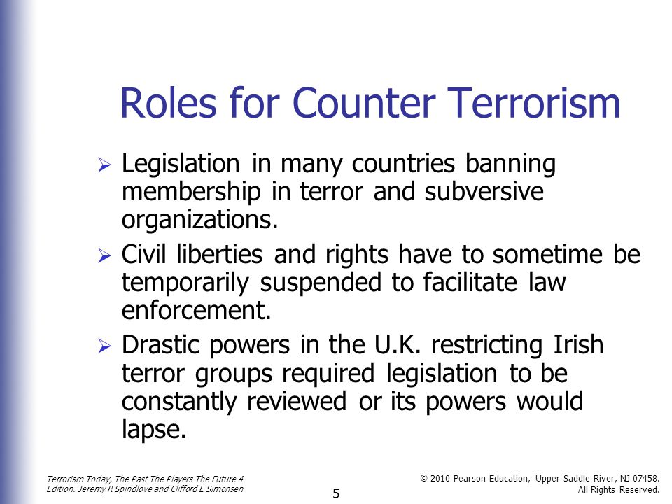 Roles for Counter Terrorism
