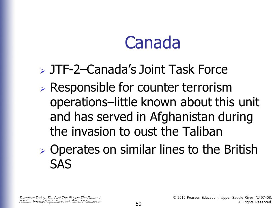 Canada JTF-2–Canada's Joint Task Force