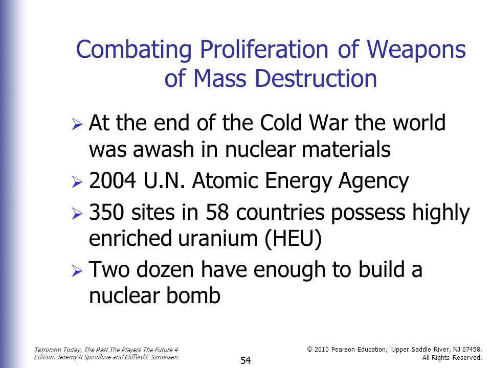 Combating Proliferation of Weapons of Mass Destruction
