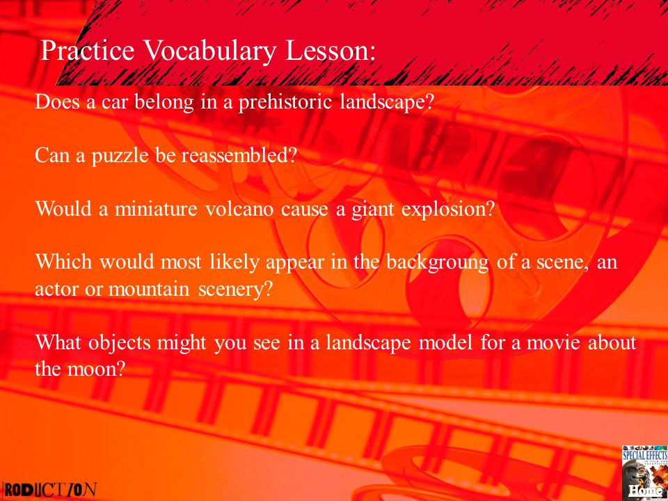 Practice Vocabulary Lesson: