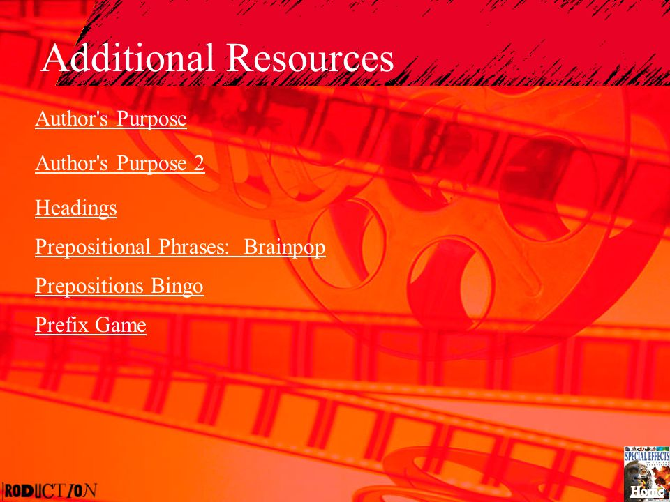 Additional Resources Author s Purpose Author s Purpose 2 Headings