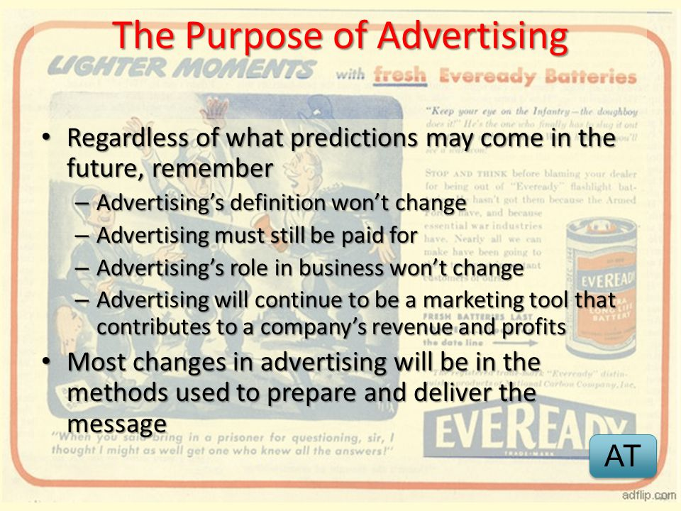 The Purpose of Advertising