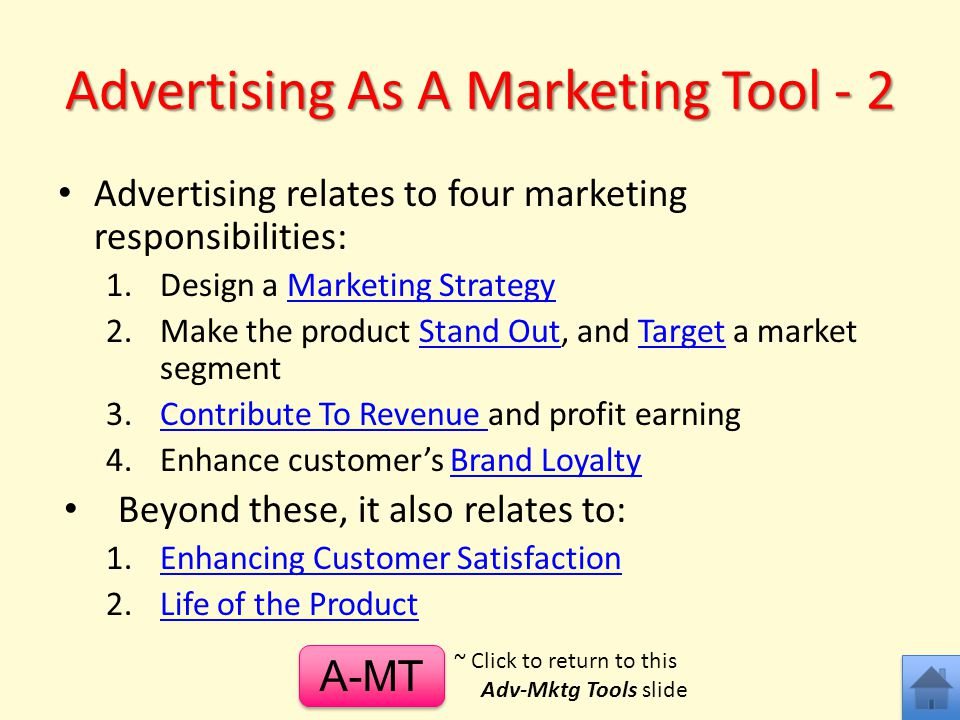 Advertising As A Marketing Tool - 2