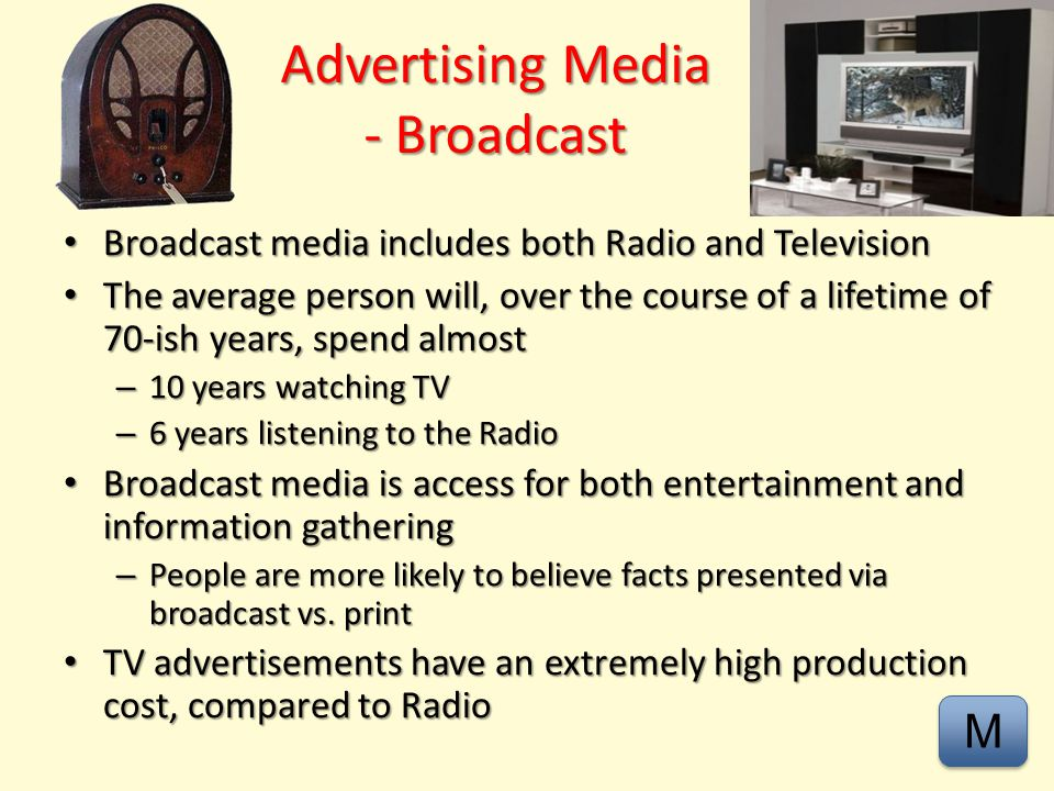 Advertising Media - Broadcast