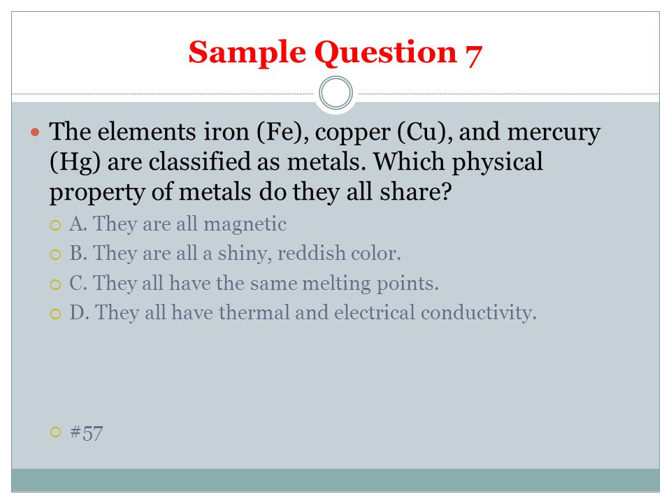 Sample Question 7