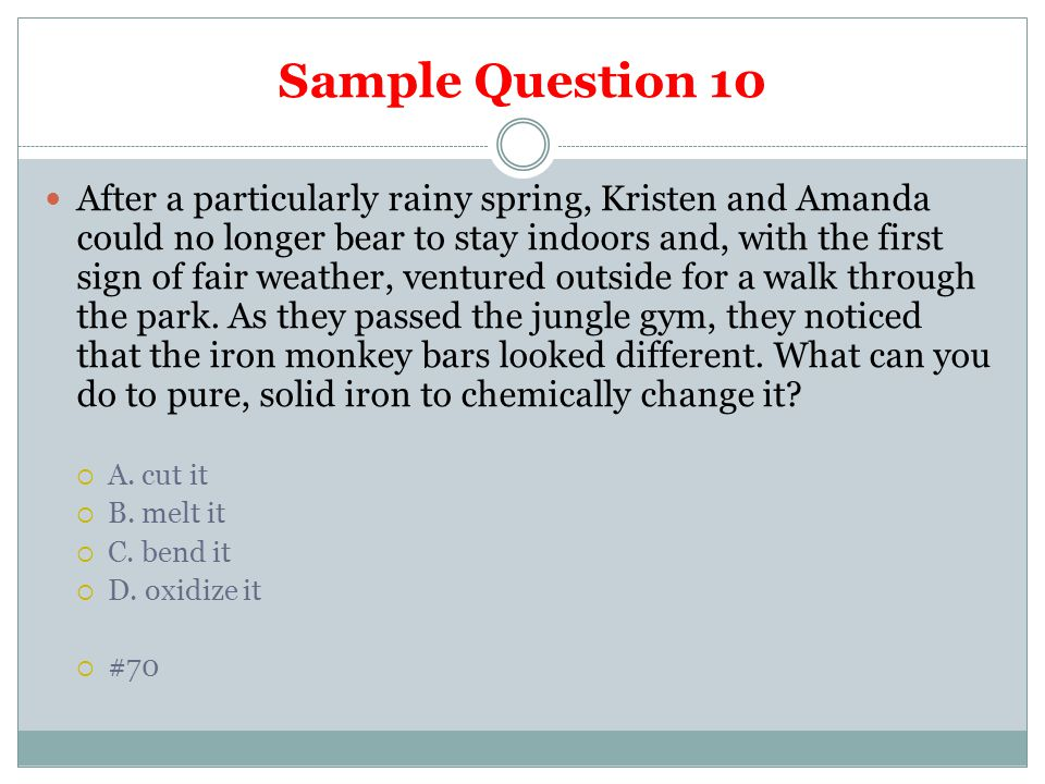 Sample Question 10