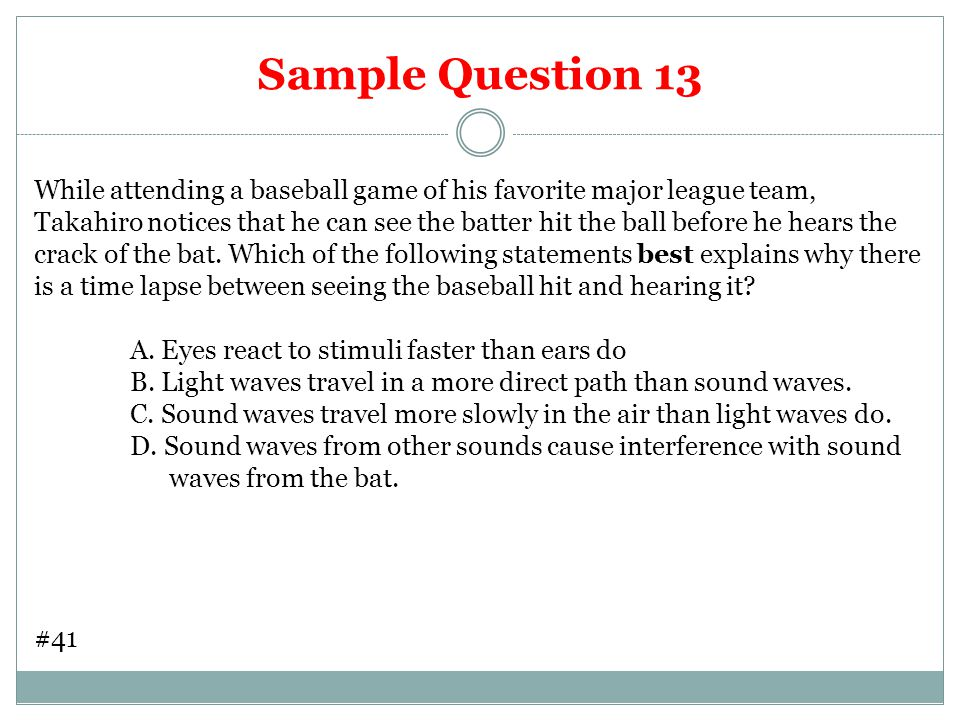 Sample Question 13