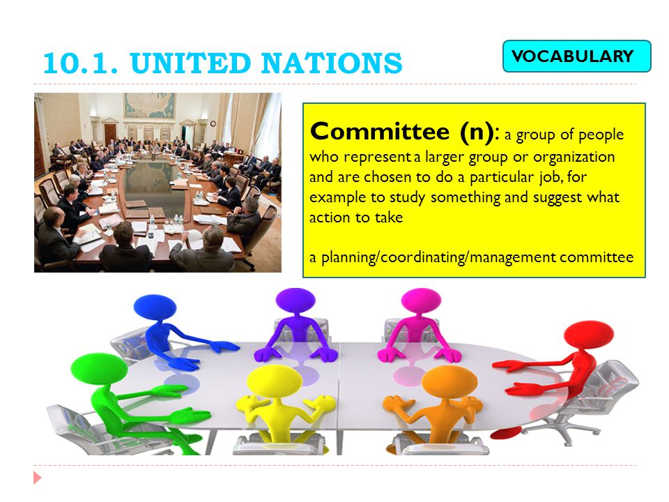 10.1. UNITED NATIONS VOCABULARY.