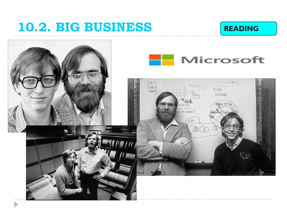 10.2. BIG BUSINESS READING