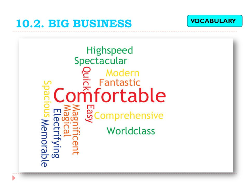 10.2. BIG BUSINESS VOCABULARY