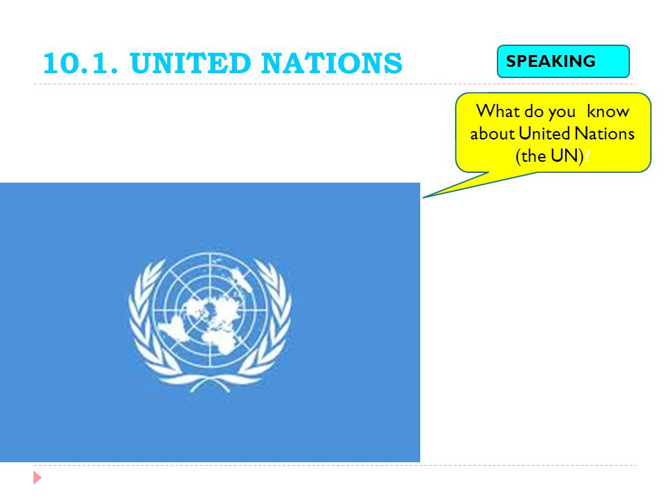 What do you know about United Nations (the UN)