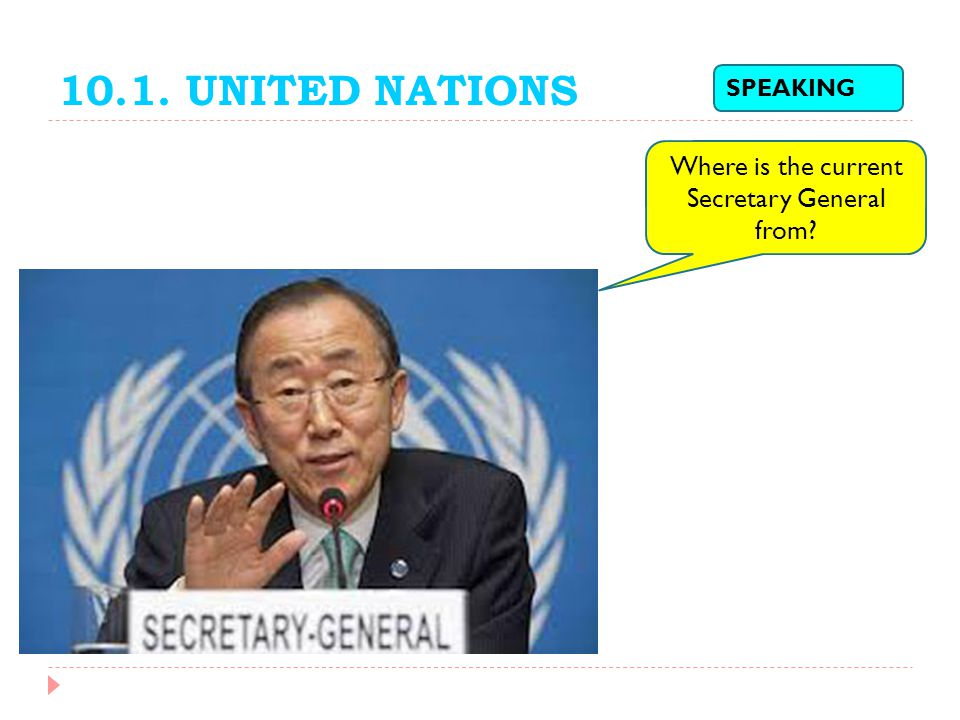 Where is the current Secretary General from