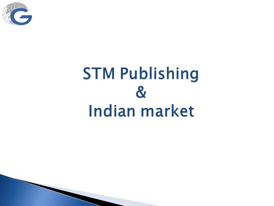 STM Publishing & Indian market
