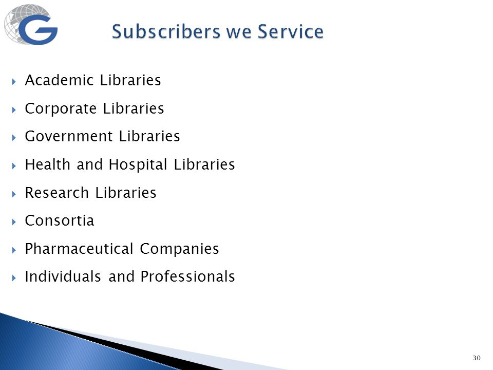 Subscribers we Service