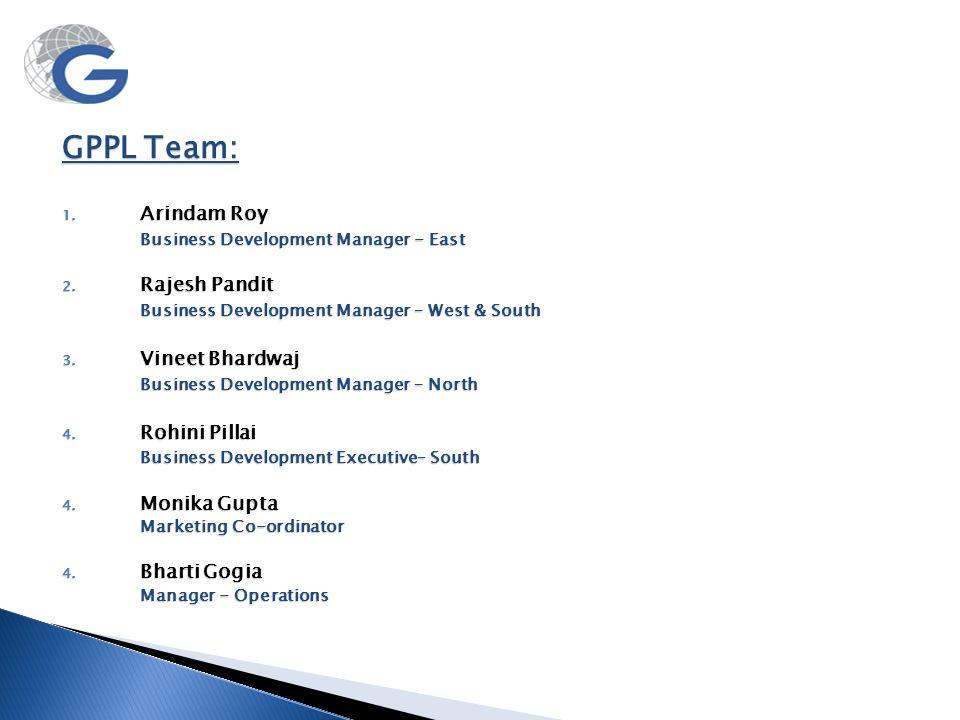 GPPL Team: Arindam Roy Business Development Manager - East