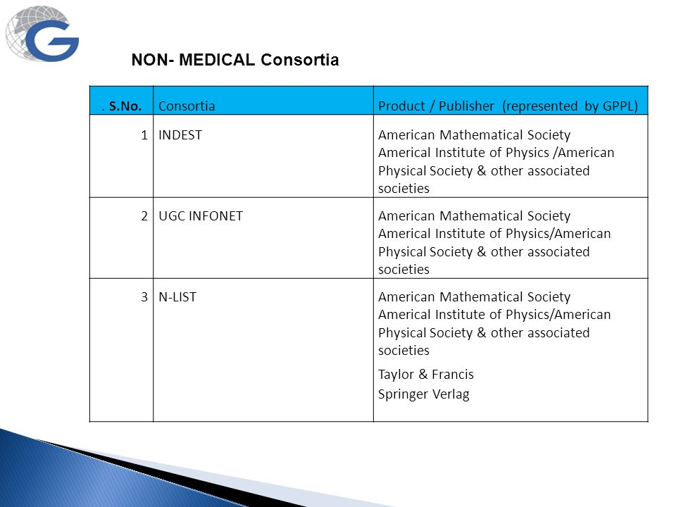 NON- MEDICAL Consortia