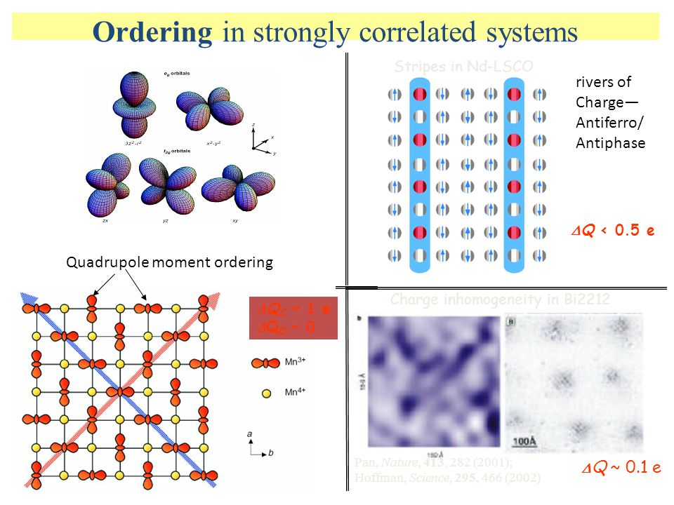 Ordering in strongly correlated systems