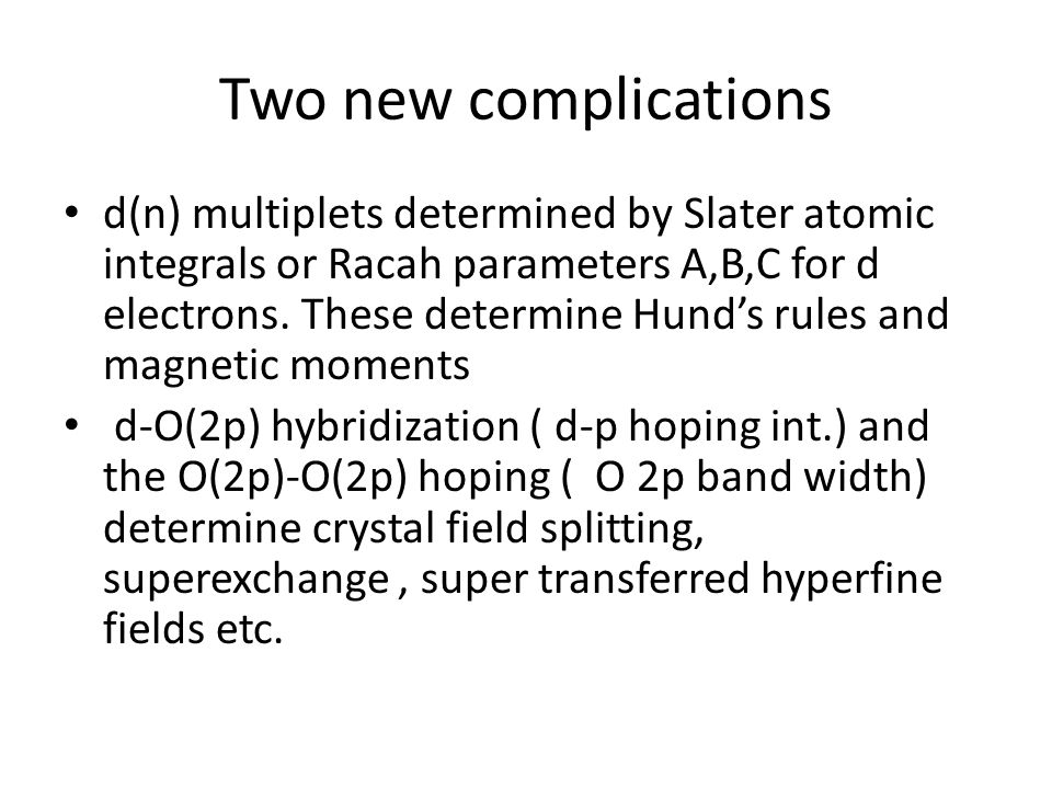 Two new complications