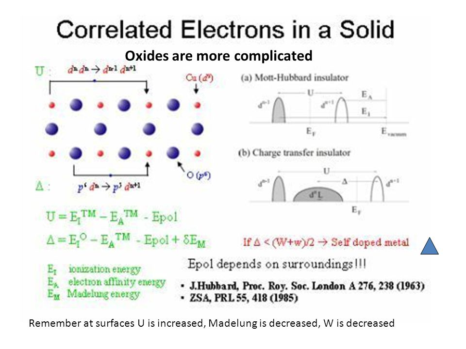 Oxides are more complicated