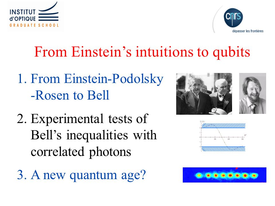 From Einstein's intuitions to qubits