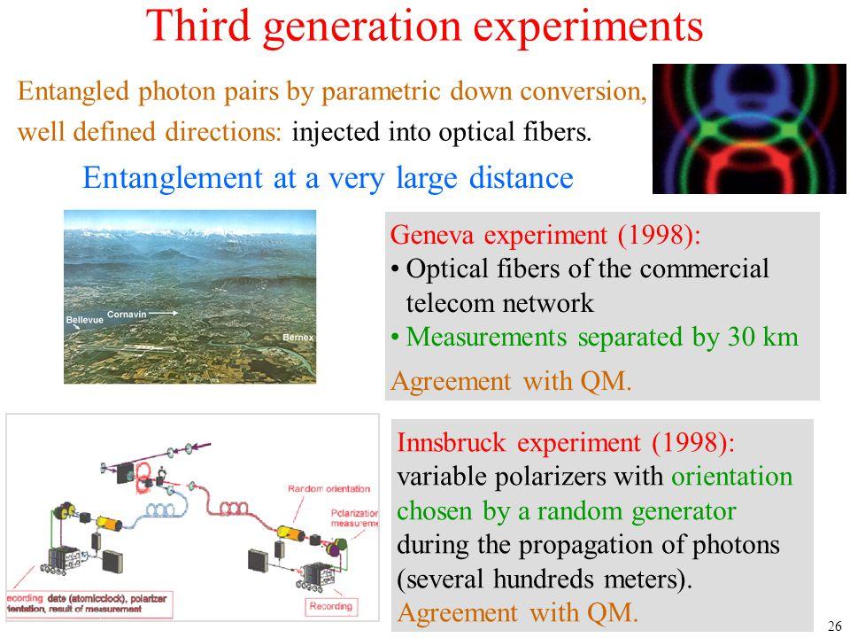 Third generation experiments