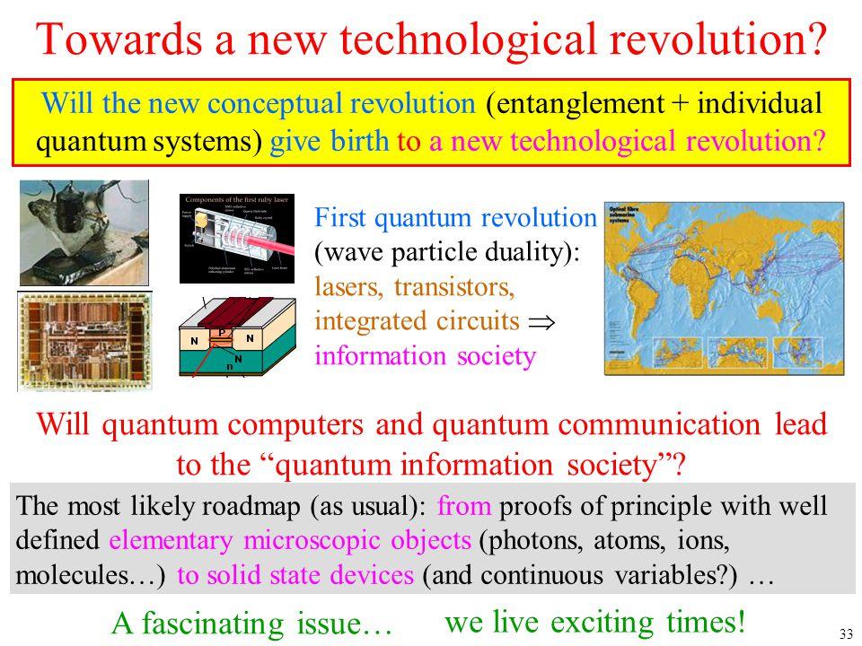 Towards a new technological revolution