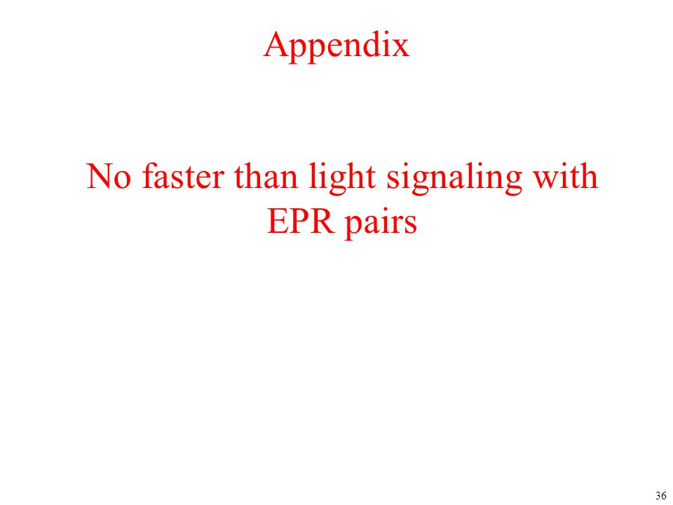 No faster than light signaling with EPR pairs