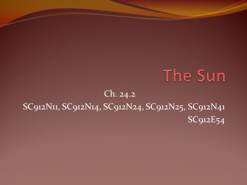 Ch. 24.2 SC912N11, SC912N14, SC912N24, SC912N25, SC912N41 SC912E54