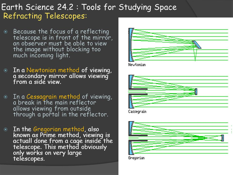 Earth Science 24.2 : Tools for Studying Space