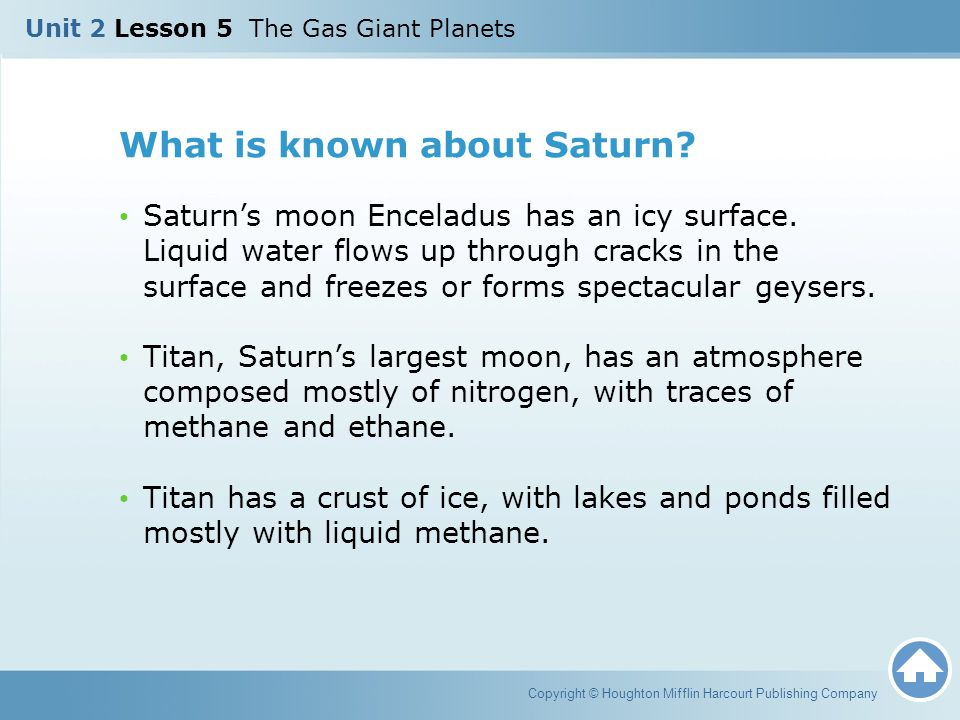 What is known about Saturn