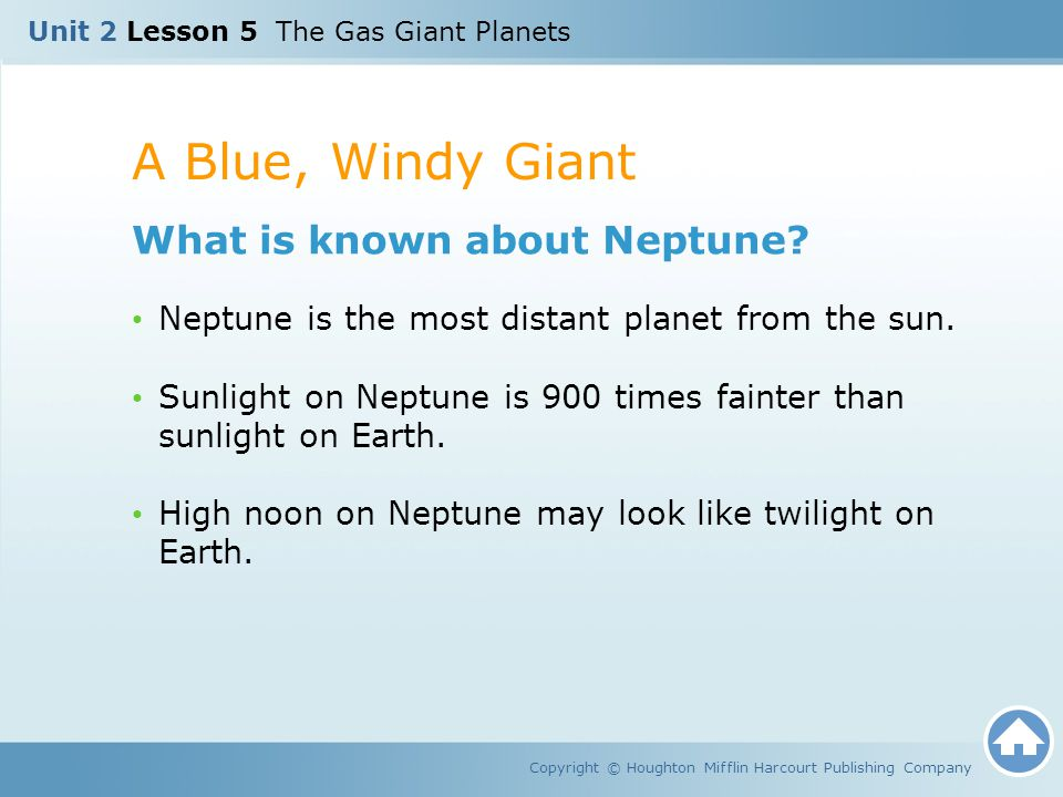 A Blue, Windy Giant What is known about Neptune
