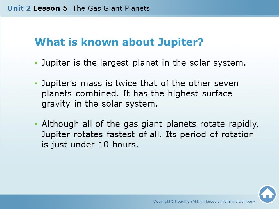 What is known about Jupiter