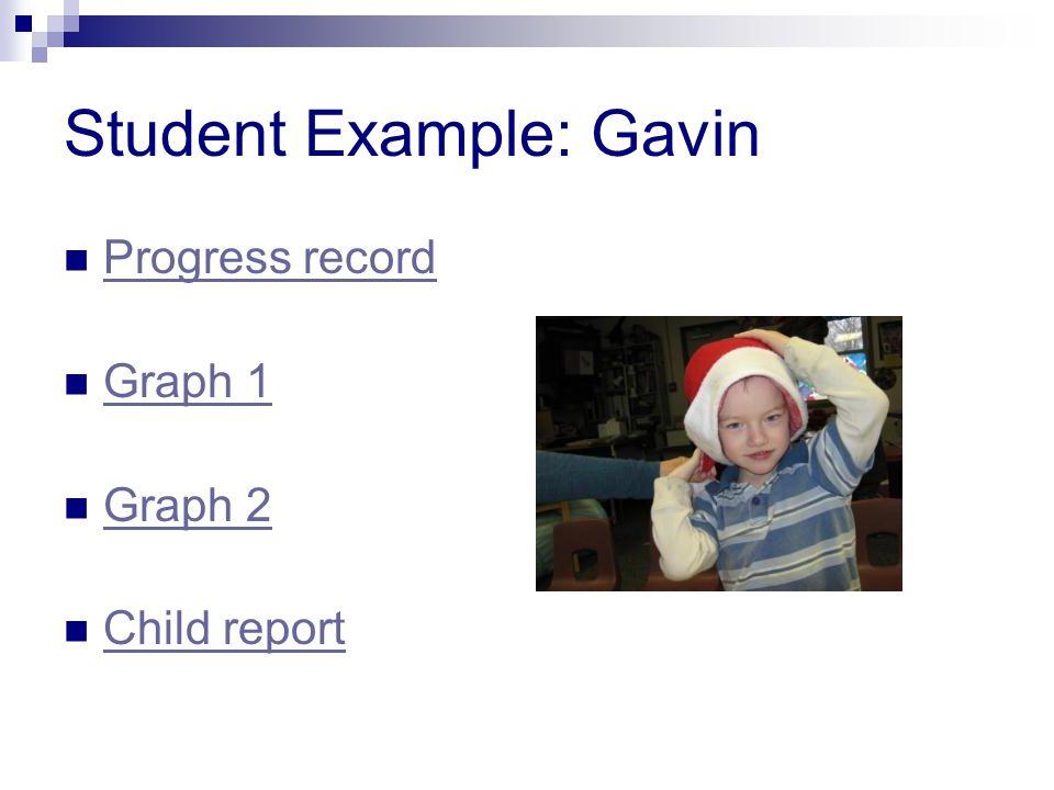 Student Example: Gavin