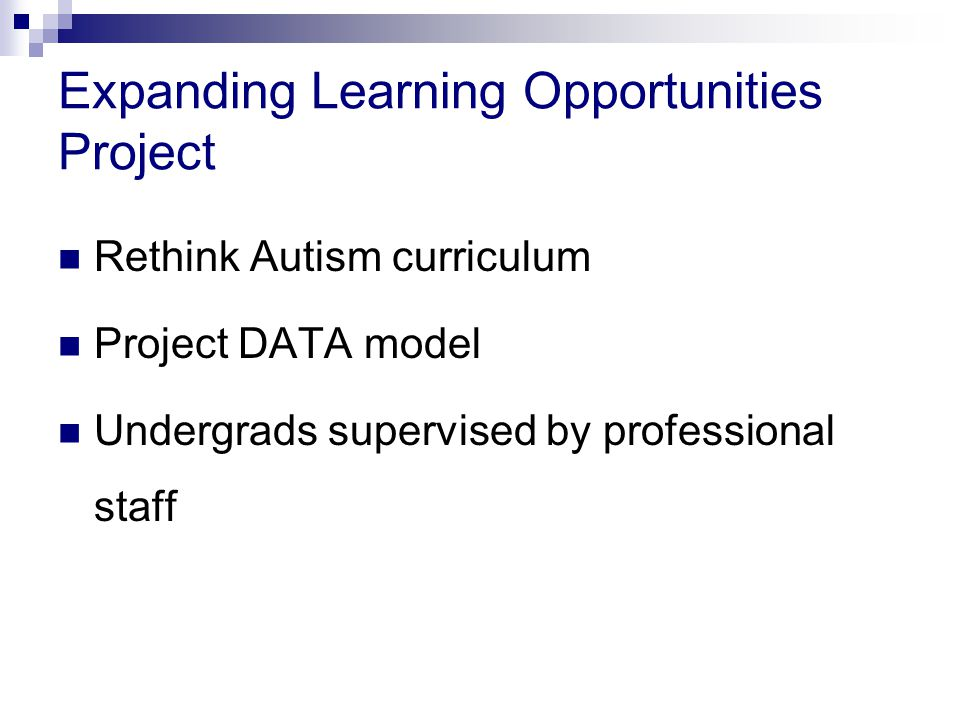 Expanding Learning Opportunities Project
