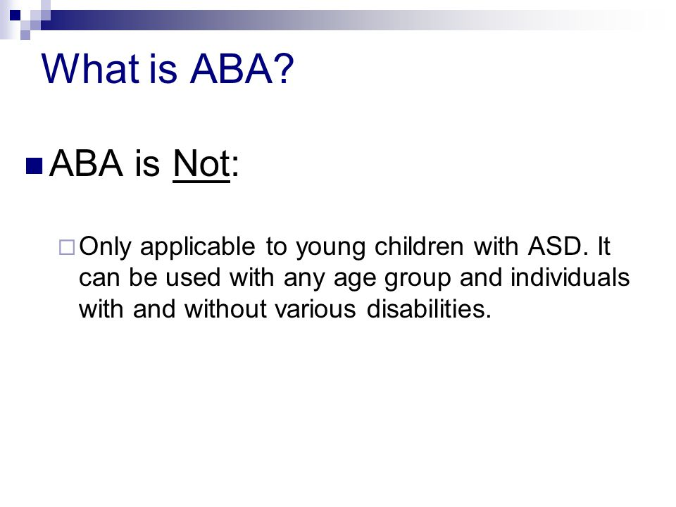 What is ABA ABA is Not: